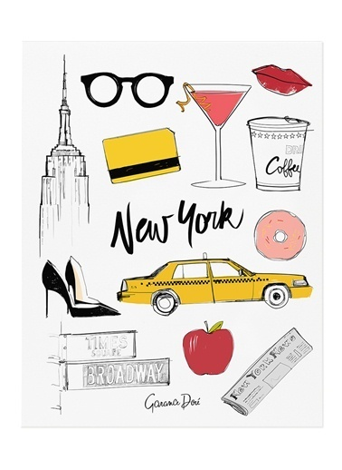 Rifle Paper Co. New York Poster Renkli